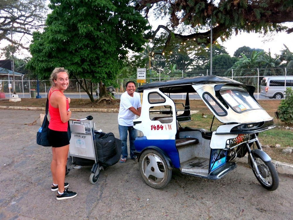 Our first of MANY tuk tuk rides in SE Asia