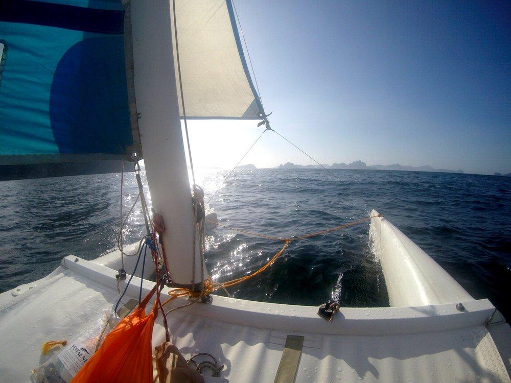 Sailing, Corong Corong Beach