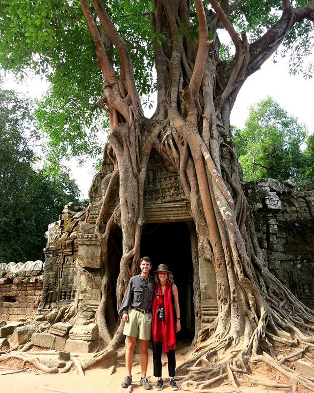 The trees + tombs in this place are insane!  #Cambodia #Angkor #siemreap #travel #travelblog #rtwchat #rtwtravel #planetwanderlust #wanderlust #worlderlust #travelgram #instatravel #coupletravel #letsgoeverywhere #igtravel #neverstopexploring #instago #passportready #huffpostgram #voyage #theeverygirltravels #yeshuffpost