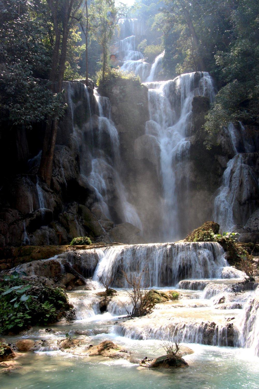 Laos Kuang Si Waterfall