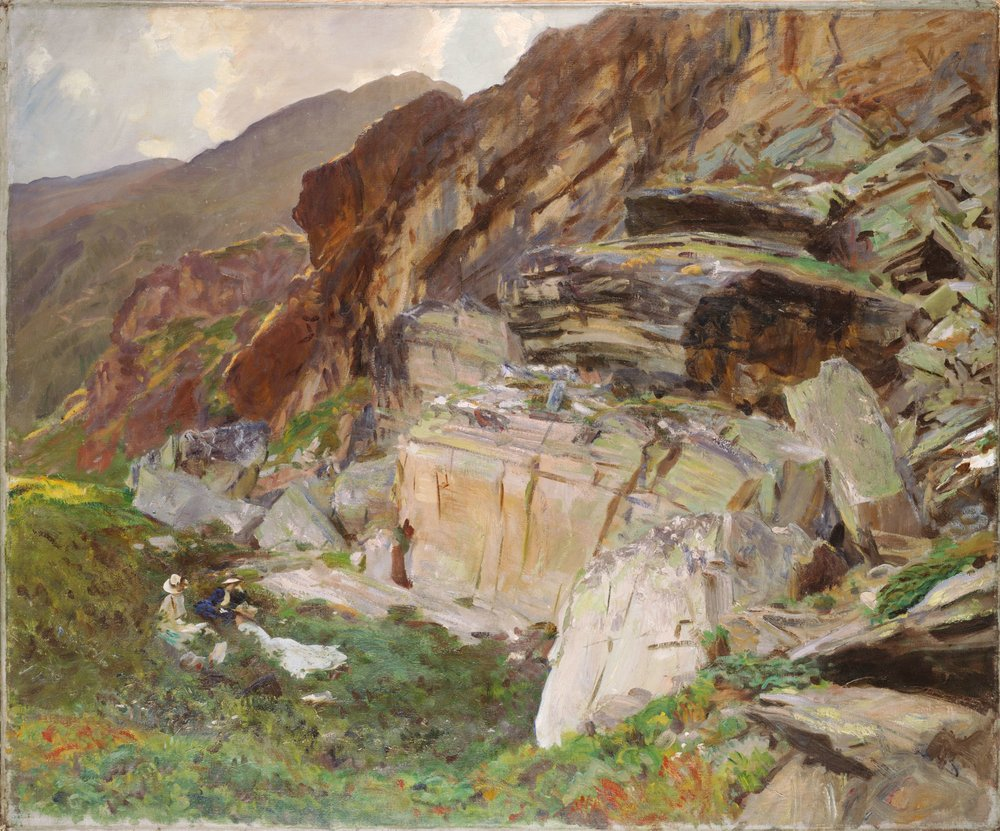 In The Simplon Valley , John Singer Sargent, 1909-1911,Oil On Canvas, 38 1/8 x 45 5/8 in, Fogg Museum of Art, Cambridge Mass.