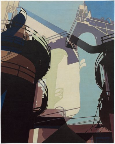 Aerial Gyrations, Charles Sheeler, 1953, 24 x 19 in, oil on canvas