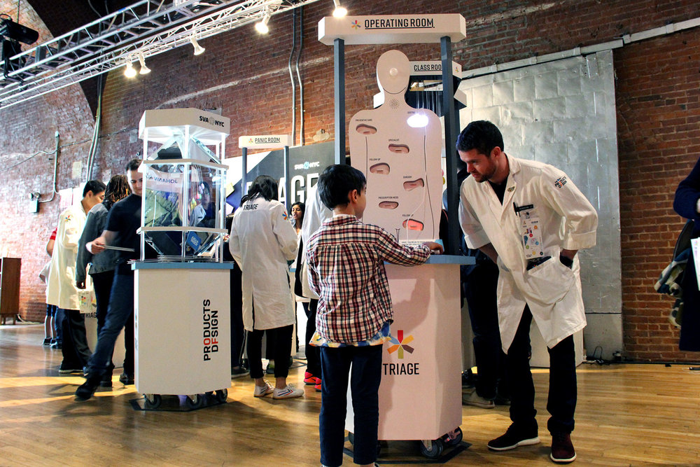 TRIAGE - Interactive exhibit that reframes contemporary urgencies through design