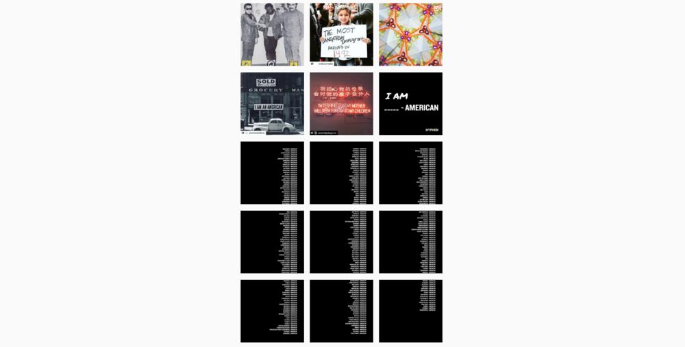 Instagram Page + teaser posts