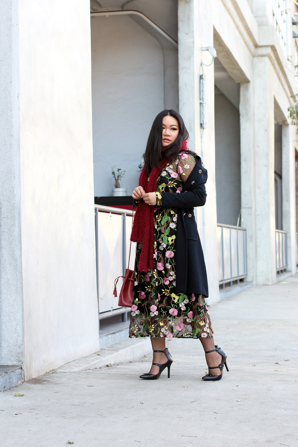 #S1HolidaySeries: Floral Embroidered Holiday Look -