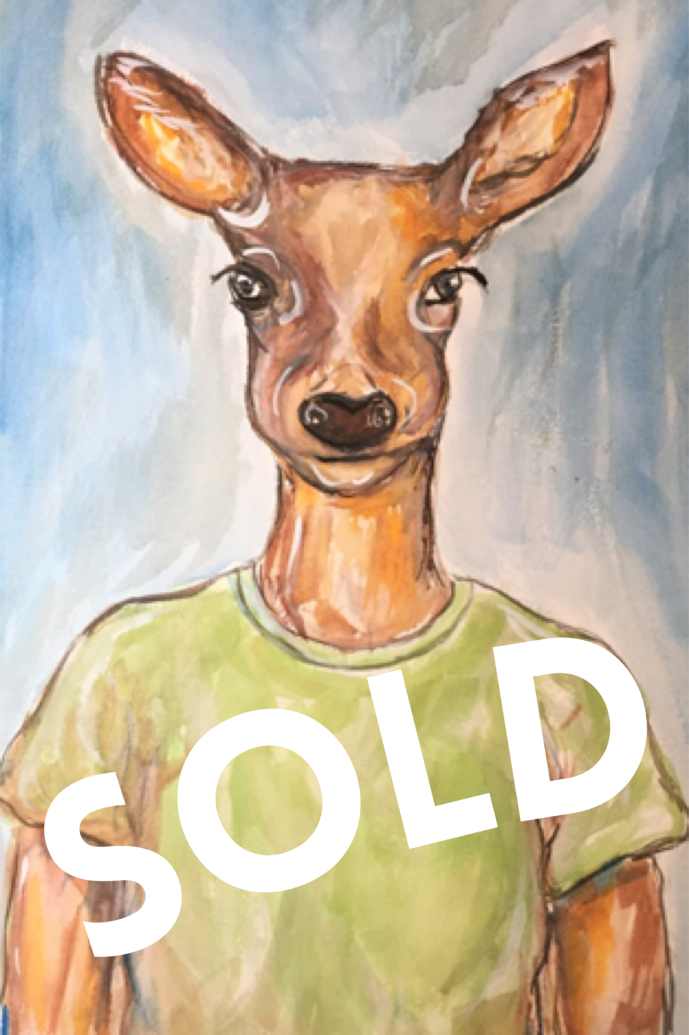 A Deer friend - SOLD