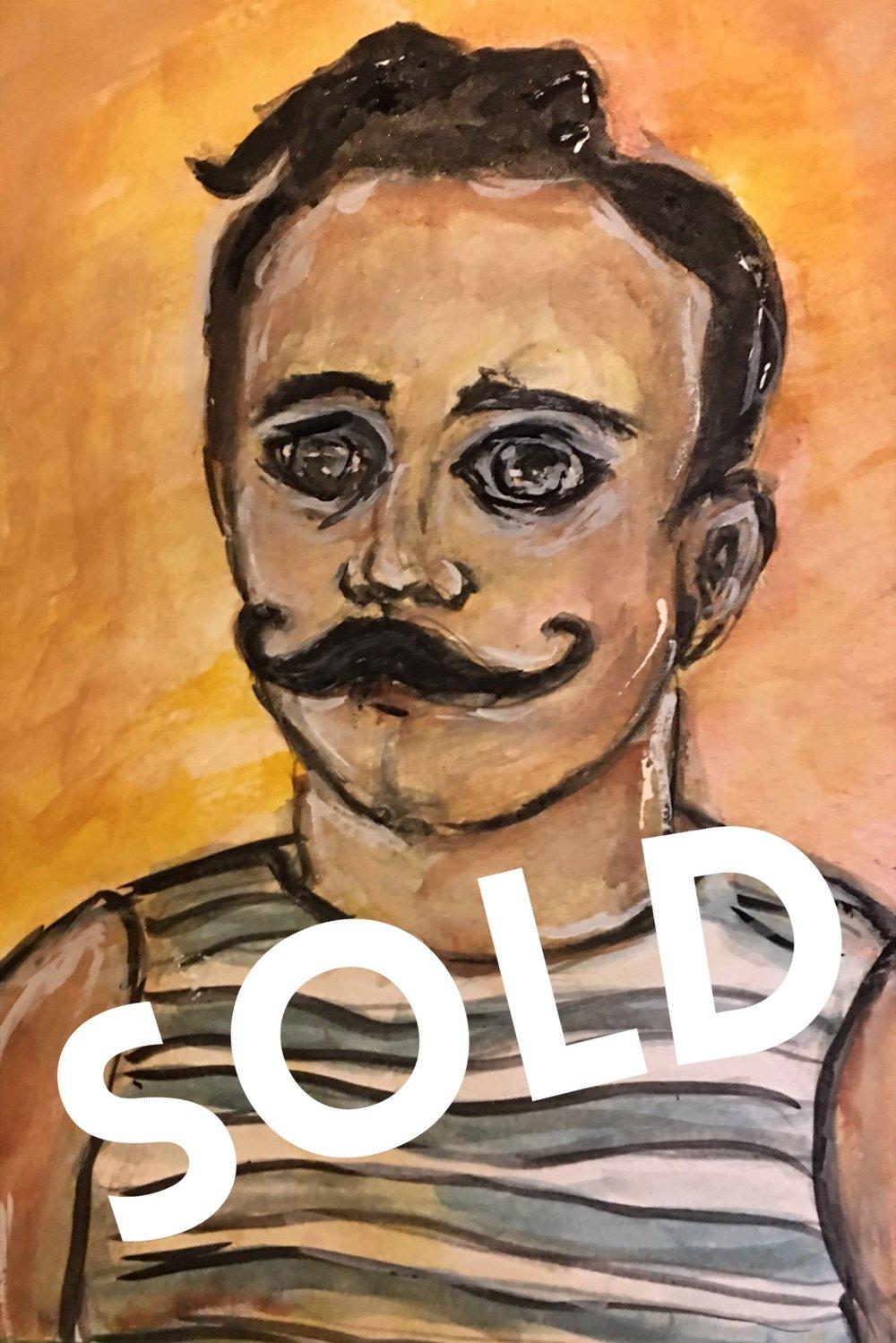Mustache Man #11 - SOLD