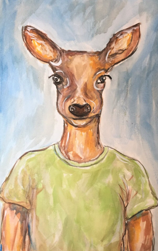 A Deer Friend : SOLD