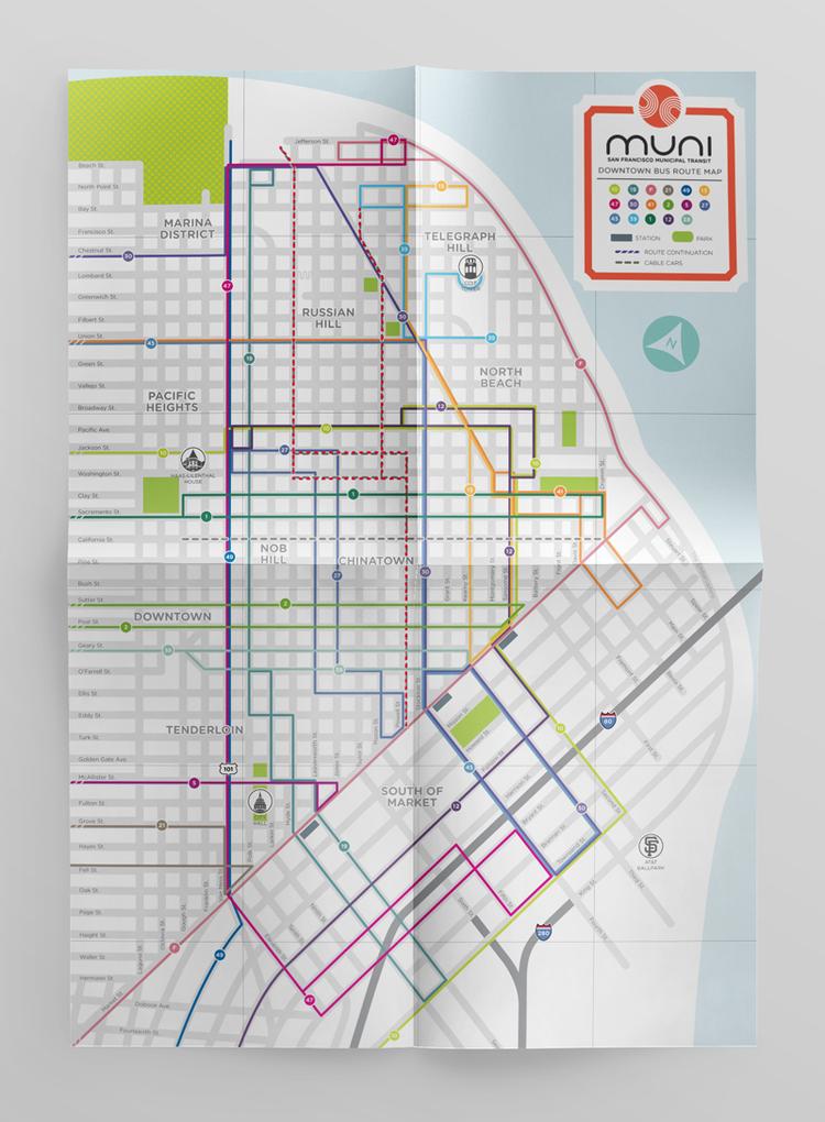 MUNI Transit Map — Samantha Desque