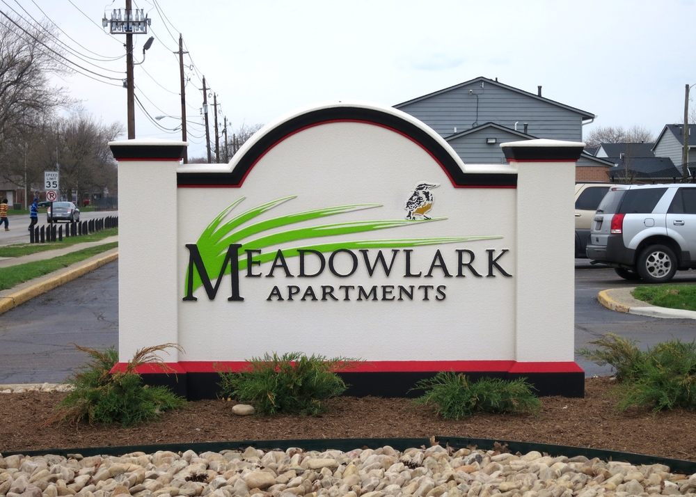 Monument Signage for Meadowlark Apartments