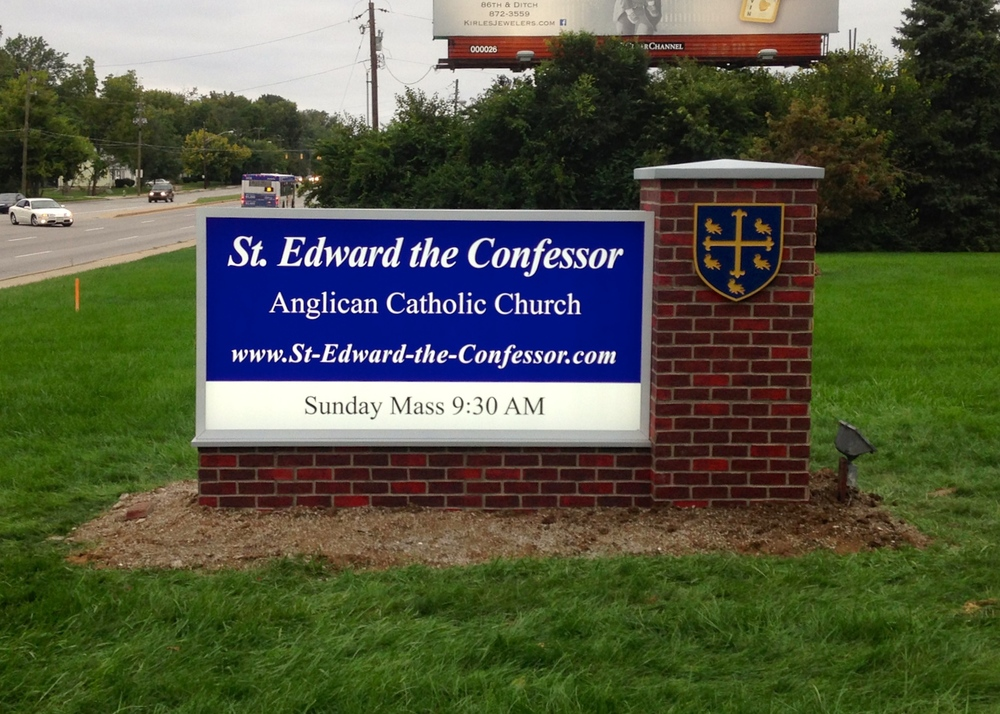 Monument Sign for St. Edward the Confessor Anglican Catholic Church