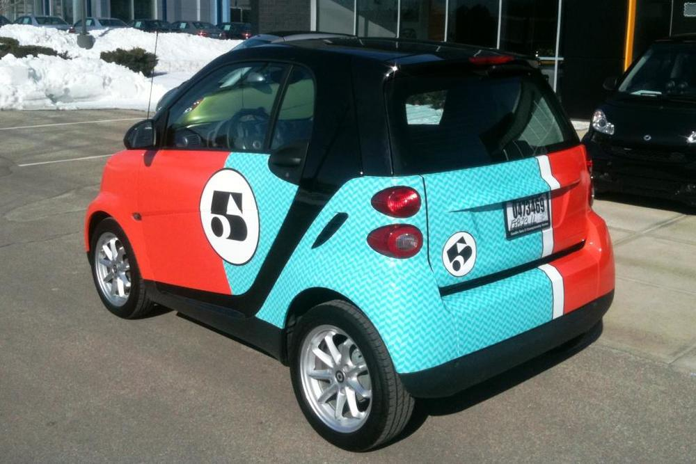 Smart Car Digitally Printed Car Wrap