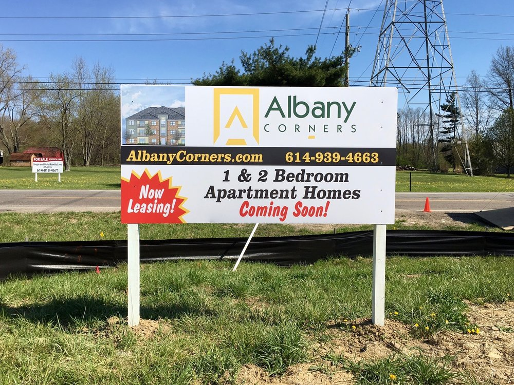 Albany Corners Marketing Sign