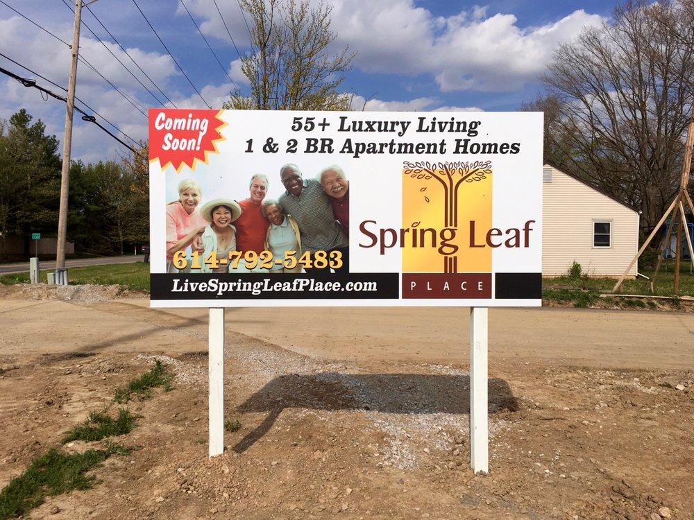 Spring Leaf Place Marketing Sign