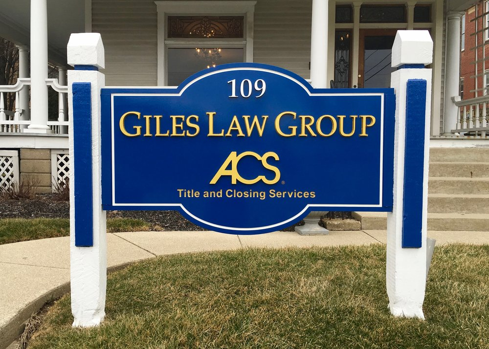 Giles Law Group ACS Title Monument Sign