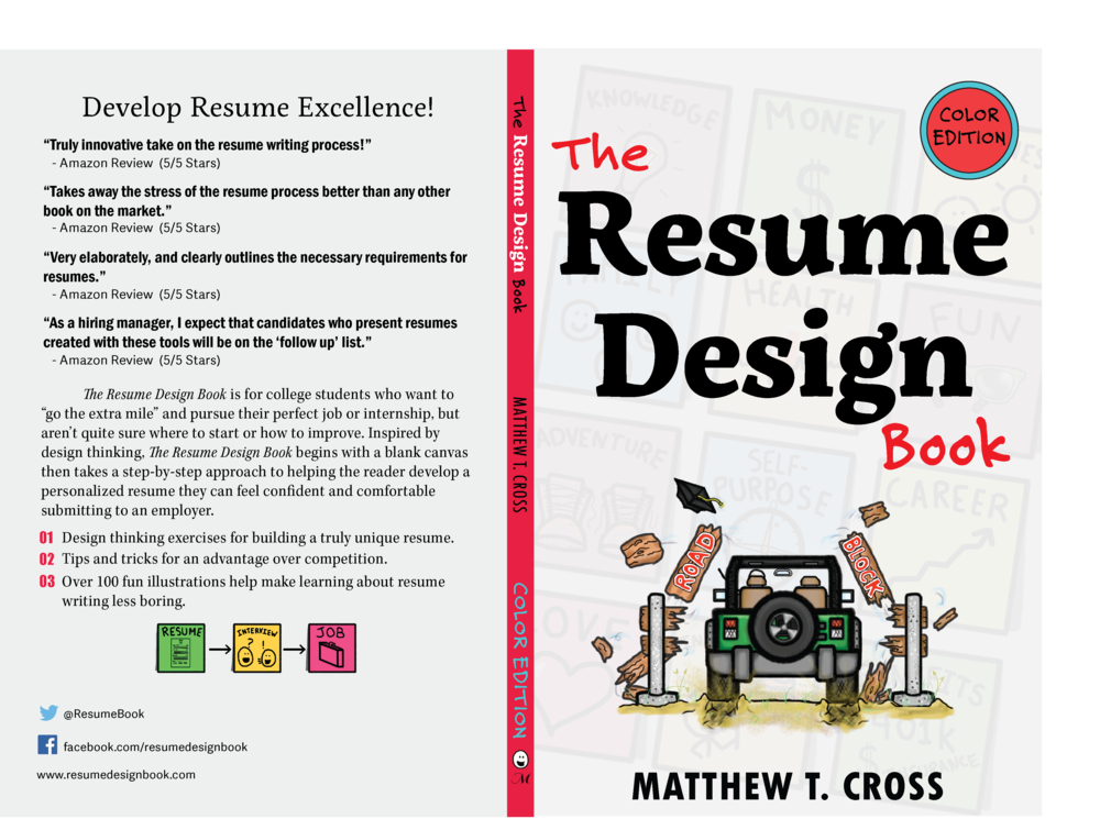 The Resume Design Book Color Edition By Matthew T. Cross Cover.png