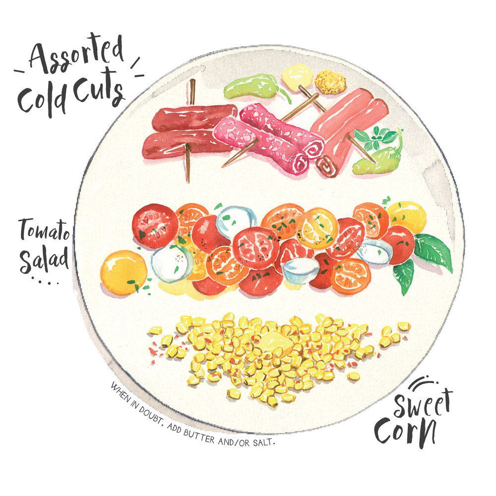 cold cuts tomato salad sweet corn.jpg