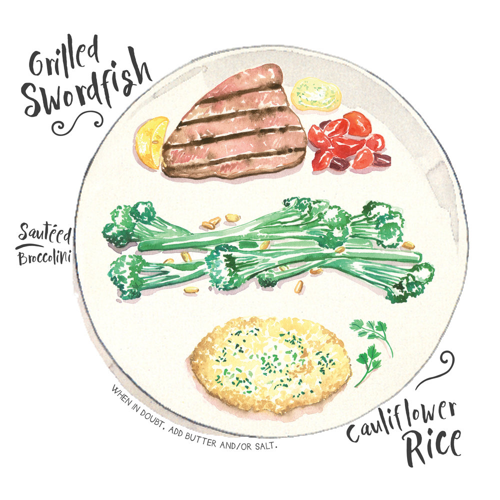 swordfish broccolini cauliflower rice.jpg
