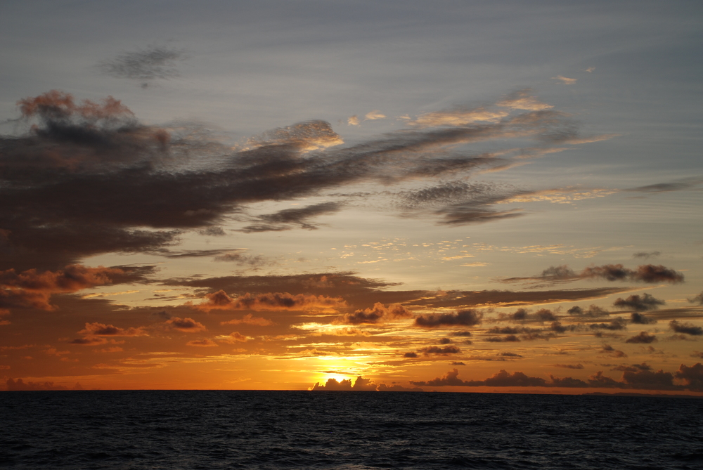 Sunset over the Mariana Trench
