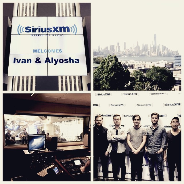Thanks @siriusxm and @relixmag for having us over today! New York, see you tonight @musichallofwb !!!