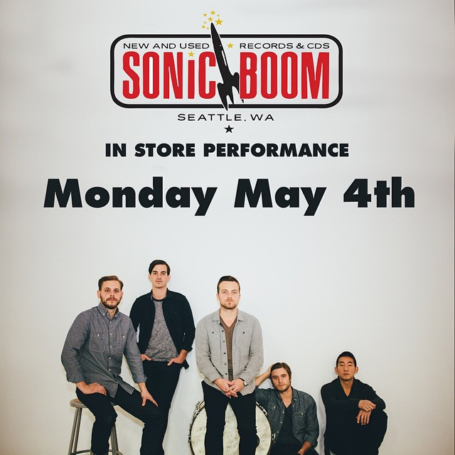 "Tomorrow is release day for our new record ""It's All Just Pretend"" and we are so excited for you to hear it! In celebration, we will be performing in-store at SONIC BOOM in Ballard at 7pm tomorrow! Come out and hear the new songs!"