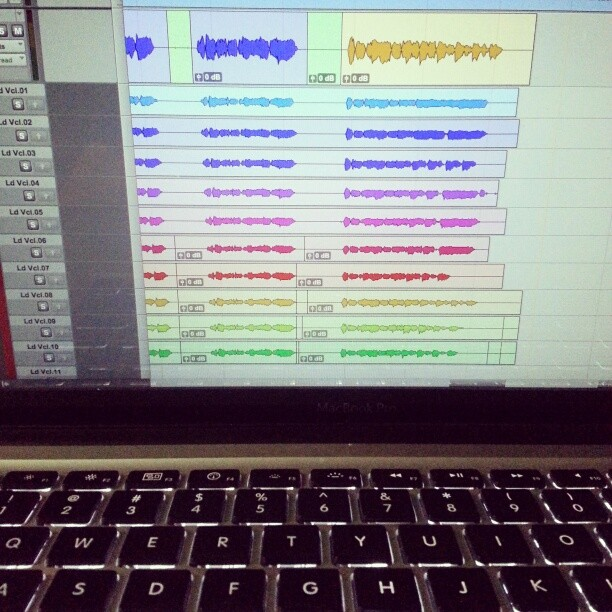 Comping vocals on a song Pete wrote called Bury Me Deep.