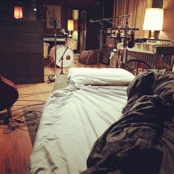 My bed tonight at Blackwatch Studios, Norman, OK.