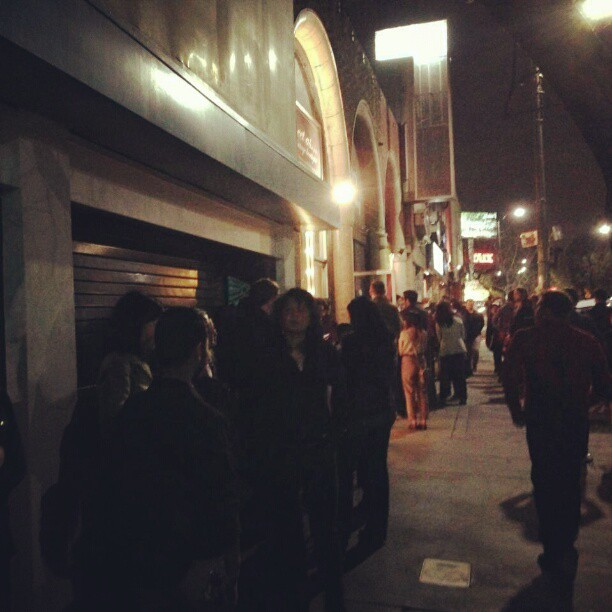 Nice line here at #TheEcho in L.A for tonights show!
