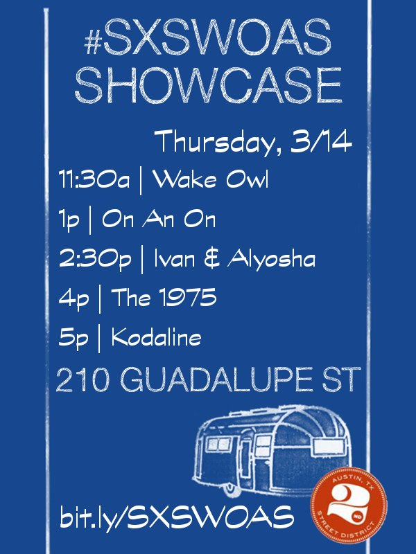 This afternoon at SXSW we're playing at the On-AirStreaming Showcase at 210 Guadalupe St. at 2:30pm!