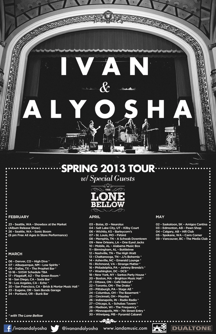 Tickets for our spring tour went on sale today! Check 'em out and head on  over here  to buy.
