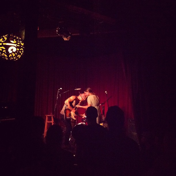 Noah Gundersen + Abby, killing on a Monday night at Hotel Cafe! +1 Seattle. (Taken with Instagram)