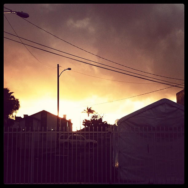 Ominous, smells like rain in san Diego (Taken with  instagram )