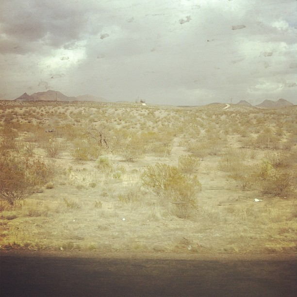 New Mexico is dusty. (Taken with  instagram )