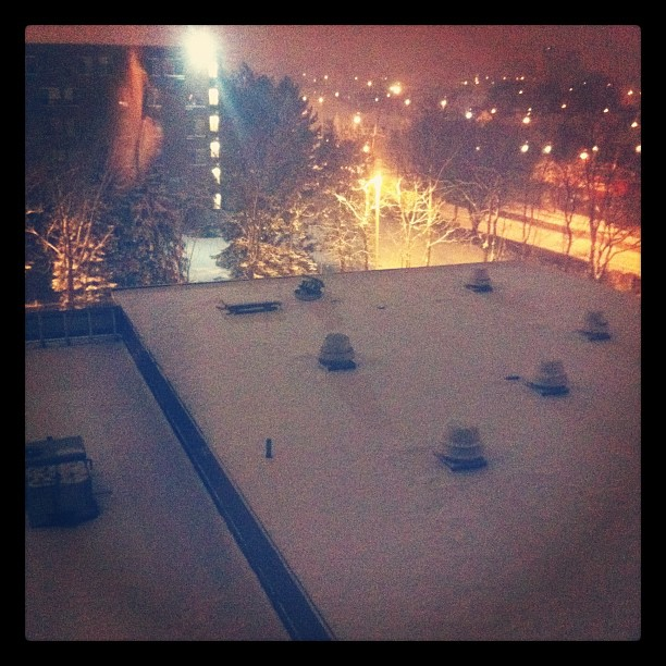 Hey Seattle, it snowed in Boston too! (Taken with instagram)