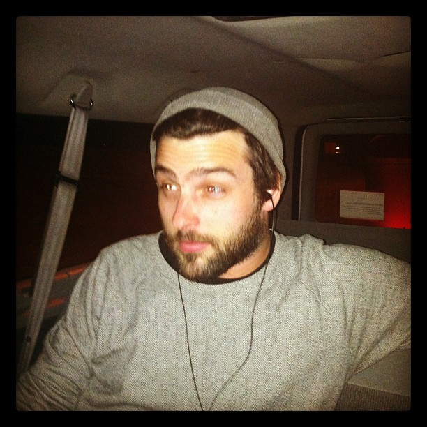 Post 7.5 hour drive, reading and watching movies face. (Taken with instagram)