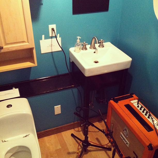 Musician's bathroom. (Taken with  instagram )