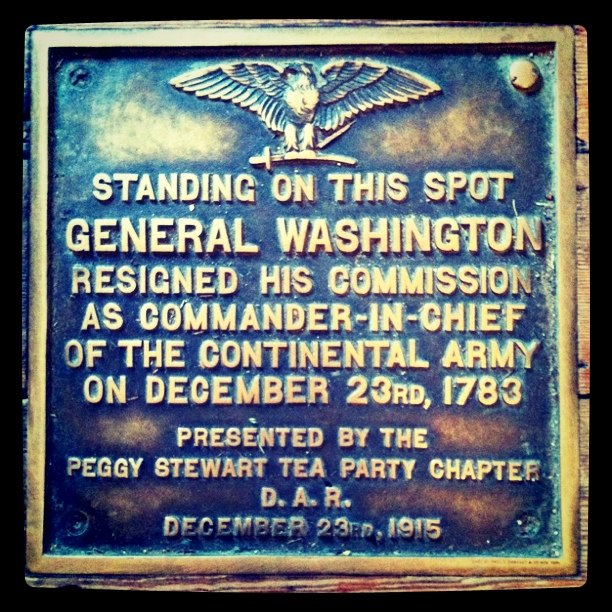 George Washington (Taken with Instagram at Maryland State House)