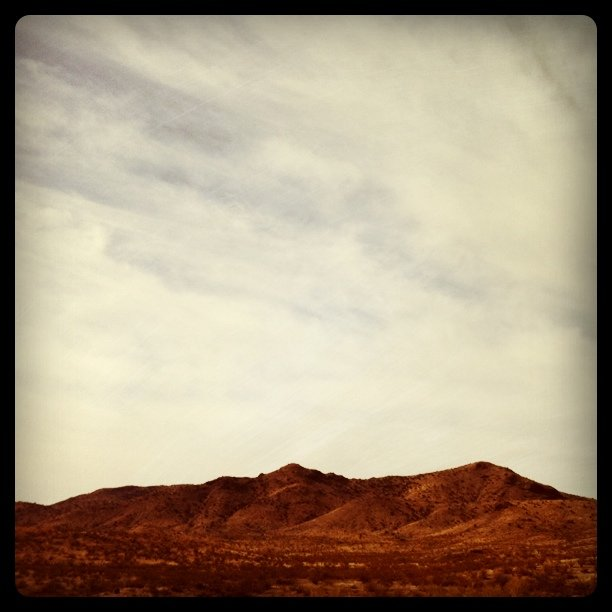 Hill (Taken with  Instagram  at AZ - NM Line I-10)