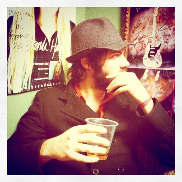Jesse Carmichael. Backstage. (Taken with Instagram at The Rock n Soul Cafe)