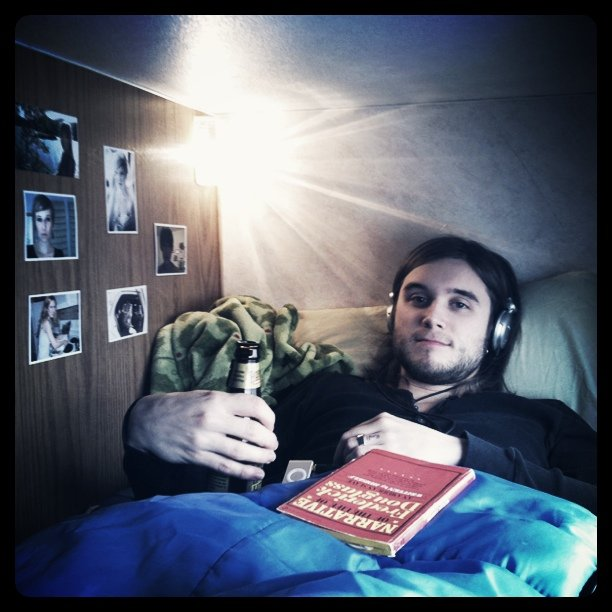 Pete in his bunk