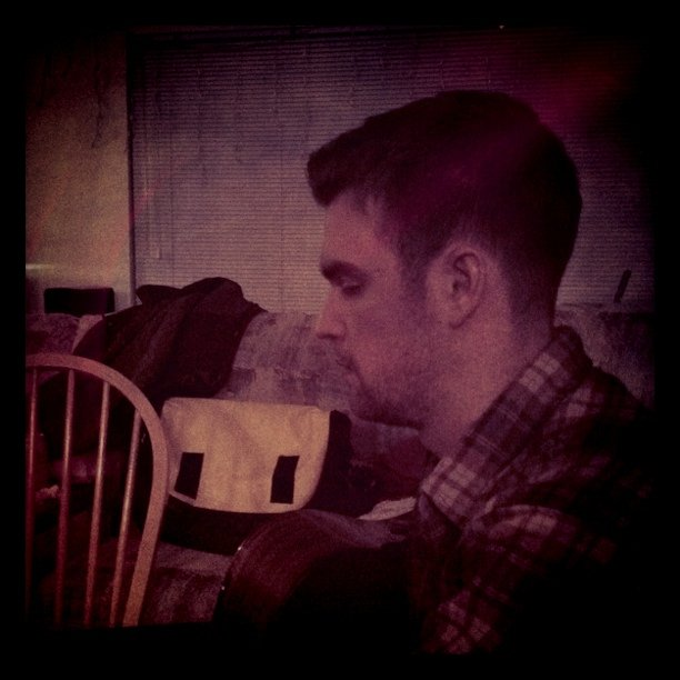 Michael Parker of pickwick at i&a rehearsal (Taken with instagram)