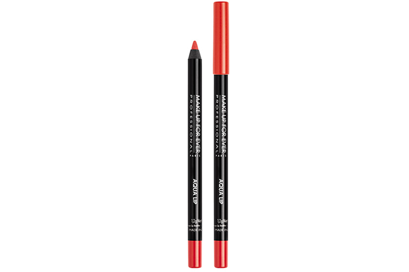 Make Up For Ever Aqua Lip in 25C Orange Red, $23