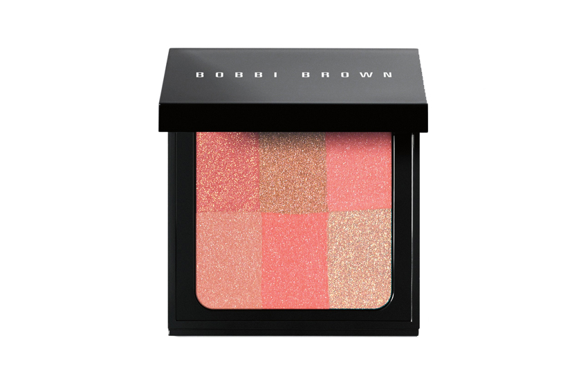 "Bobbi Brown Brightening Brick in Pink Coral, $54.  ""Imagine the warmth of a bronzer, the pure colour of a blush and the luminosity of a highlighter."""