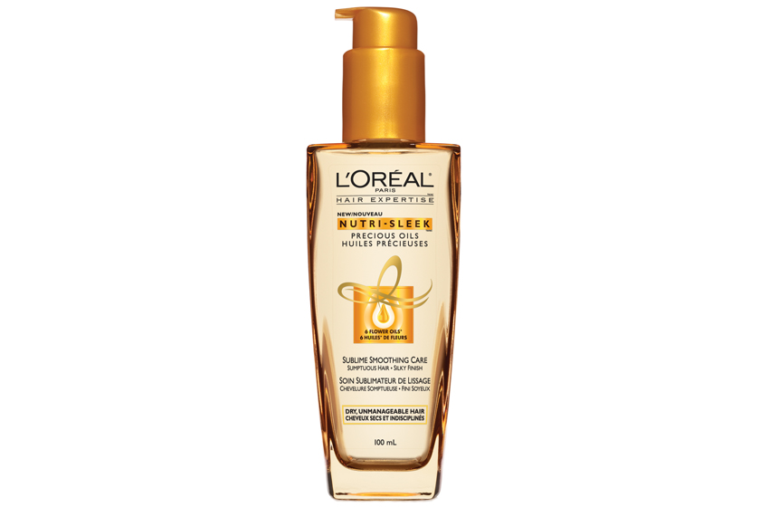 "L'Oréal Paris Hair Expertise Nutri-Sleek Precious Oils, $10.  ""I like to use it before I shampoo and sometimes before brushing, to protect my hair."""
