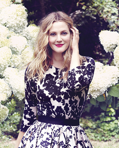Budding beauty mogul Drew Barrymore