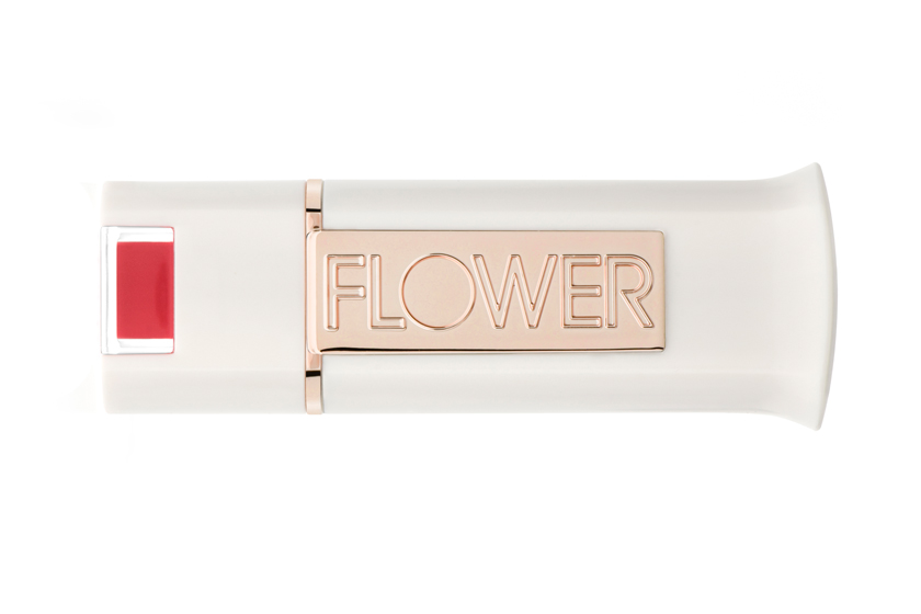 "Flower Kiss Stick Velvet Lip Colour in Get to the Poinsettia, $7.  ""We tried to make sure it's an incredibly universal red."""