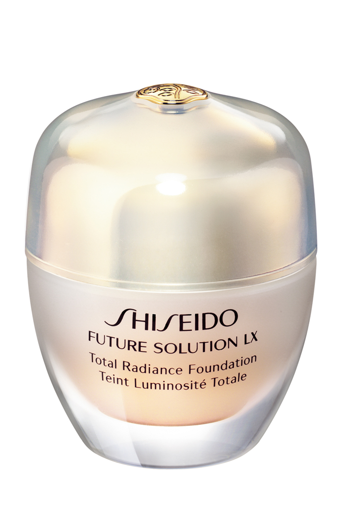 Shiseido Future Solution LX Total Radiance Foundation, $98, at Shiseido counters