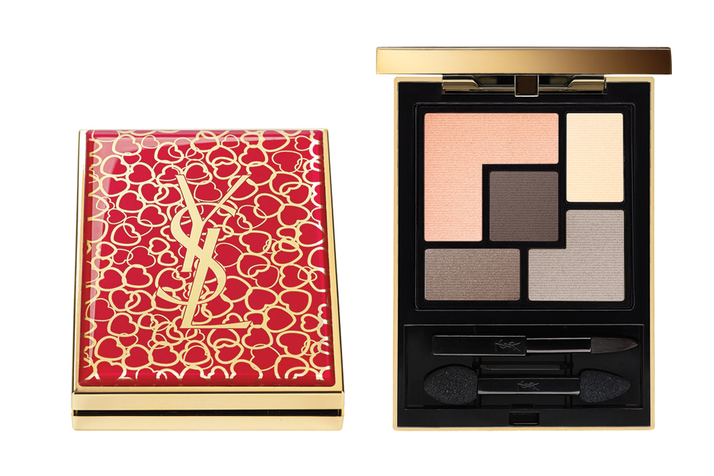 Yves St Laurent Couture Palette Collector Hearts Profusion, $64, at YSL Counters