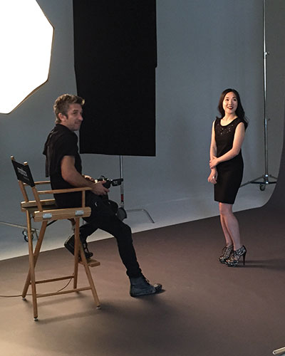 Smashbox Founder Davis Factor with editor Wing Sze Tang