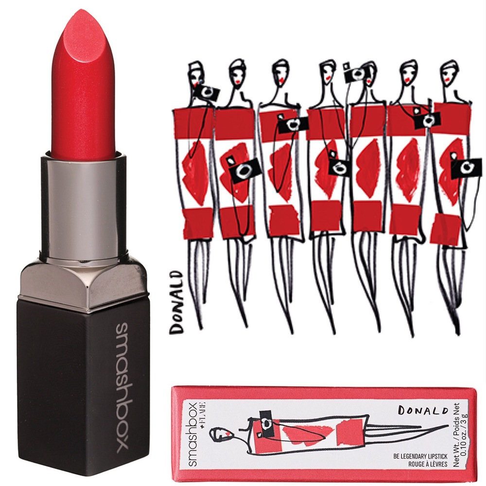 Smashbox x Flare x Donald Robertson be legendary lipstick in Canadian flare, $23